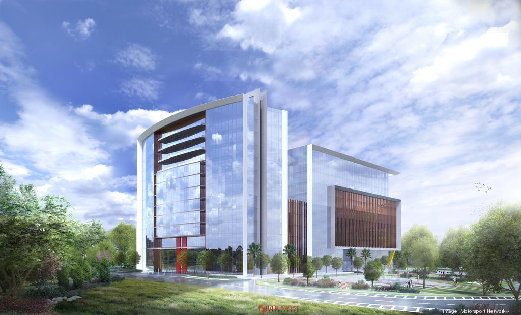Rendering of the Motorsport Network building: